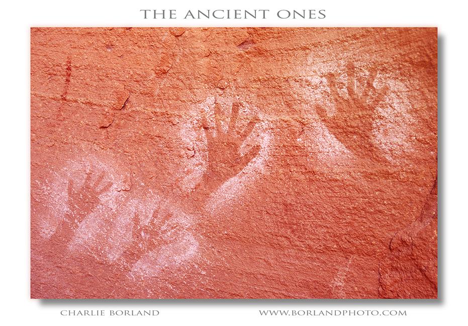petroglyph hand prints